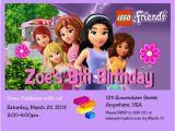 Lego Friends Birthday Invitations Lego Friends Girl Birthday Party Invitation with Free by