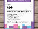Lego Friends Birthday Invitations Lego Friends Party Invitations Birthday Party Template