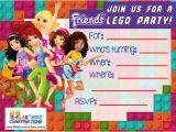 Lego Friends Birthday Invitations Lego Friends Party Invitations Cimvitation