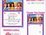 Lego Friends Birthday Invitations Legofriendsbirthdaypartyinvitethankyoucard Urban Bliss Life