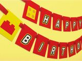 Lego Happy Birthday Banner Free Printable Items Similar to Printable Birthday Banner Diy Rainbow