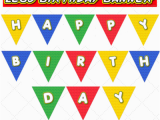 Lego Happy Birthday Banner Free Printable Lego Birthday Banner Free Printable