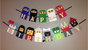 Lego Ninjago Happy Birthday Banner Lego Ninjago Birthday Banner Ninjago Birthday by