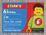 Lego themed Birthday Invitation Card Free Printable Lego Birthday Invitations Drevio