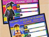 Lego themed Birthday Invitation Card Free Printable Lego Movie Birthday Invitation Set