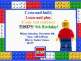Lego themed Birthday Invitation Card Homemaking Fun A Lego themed Birthday Party