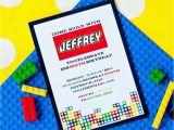 Lego themed Birthday Invitation Card Lego Birthday Invitations Free Ideas Egreeting Ecards