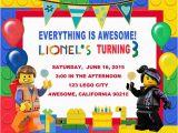 Lego themed Birthday Invitation Card Lego Birthday Invitations Lego Birthday Invitations