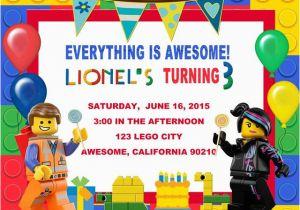 Lego Themed Birthday Invitation Card Invitations