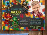 Lego themed Birthday Invitation Card Lego Birthday Invitations Lego Birthday Invitations with