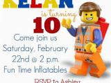 Lego themed Birthday Invitation Card Lego Movie Party Invitations Lego Movie Party Invitation