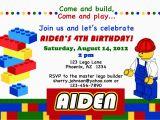Lego themed Birthday Invitation Card Lego themed Birthday Party Invitations Dolanpedia