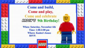 Lego themed Birthday Invitations Homemaking Fun A Lego themed Birthday Party