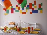 Lego themed Birthday Party Decorations Lego theme Party Ideas Diy Inspired