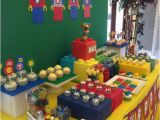 Lego themed Birthday Party Decorations Lego themed 7th Birthday Party One Charming Day