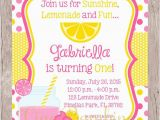 Lemonade Birthday Party Invitations Items Similar to Printable Pink Lemonade Birthday Party
