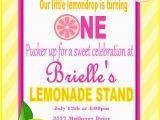 Lemonade Birthday Party Invitations Pink Lemonade Birthday Invitation Pink Lemondade Birthday