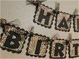Leopard Birthday Decorations Leopard Print Birthday Banner Cheetah On Luulla