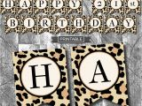 Leopard Birthday Decorations Leopard Print Cheetah Print Birthday Party Decoration Banner