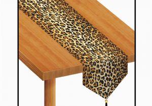 Leopard Print Birthday Decorations Brown Leopard Jungle Animal Print Table Runner Birthday