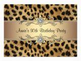 Leopard Print Birthday Decorations Cheetah Print Birthday Party Invitation