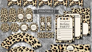 Leopard Print Birthday Decorations Diy Leopard Print Cheetah Print Birthday Party Decorations