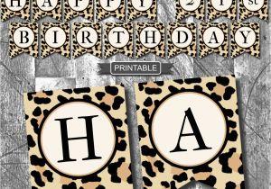 Leopard Print Birthday Decorations Leopard Print Cheetah Print Birthday Party Decoration Banner