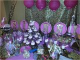 Leopard Print Birthday Party Decorations Birthday Party Cheetah Print Pink and Gold Candy Buffet
