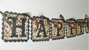 Leopard Print Happy Birthday Banner Leopard Print Happy Birthday Banner Black and by Justbeccuz