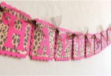 Leopard Print Happy Birthday Banner Pink Leopard Print Happy Birthday Banner with by Justbeccuz
