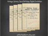 Library Card Birthday Invitations 10 Library Cards Sample Templates