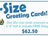 Life Size Birthday Cards Greeting Cards Retirement Congratulations Schedule