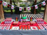 Lightning Mcqueen Birthday Decoration Ideas Kara 39 S Party Ideas Lightning Mcqueen Race Car Party with