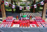 Lightning Mcqueen Birthday Decorations Kara 39 S Party Ideas Lightning Mcqueen Race Car Party with