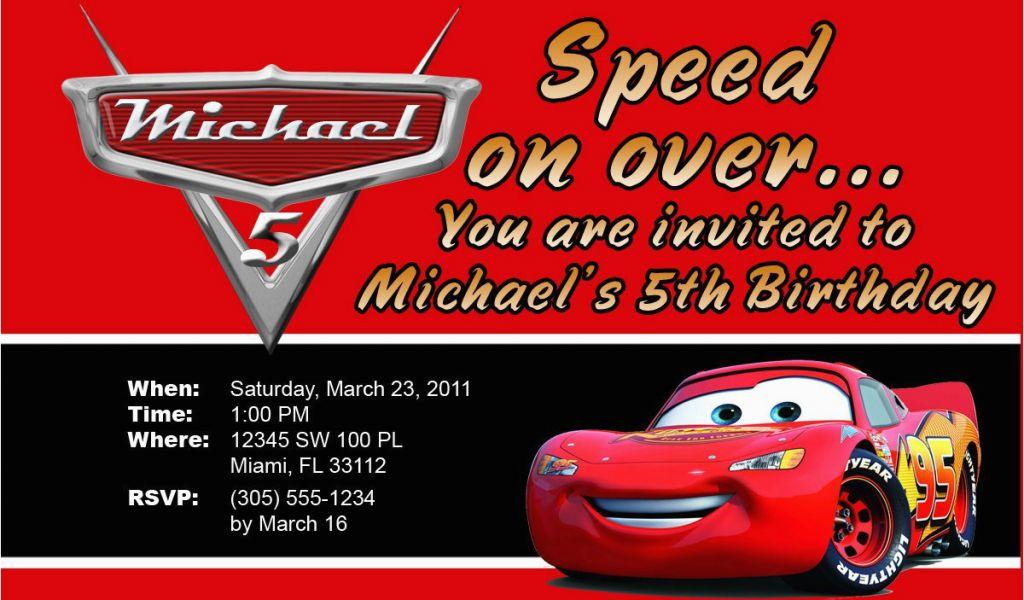 Lightning Mcqueen Birthday Invitations Free Printable Lightning