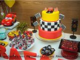 Lightning Mcqueen Birthday Party Decorations Kara 39 S Party Ideas Lightning Mcqueen Cars themed
