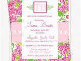 Lilly Pulitzer Birthday Invitations Lilly Pulitzer Inspired Invitations Birthday Invitations