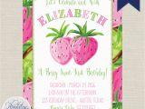Lilly Pulitzer Birthday Invitations Strawberry Birthday Invitation Lilly Pulitzer Invitation