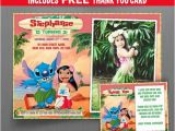 Lilo and Stitch Birthday Party Invitations Disney Lilo and Stitch 7×5 In Birthday Party Invitation