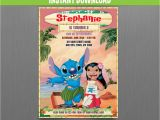 Lilo and Stitch Birthday Party Invitations Lilo and Stitch 5×7 In Birthday Invitation Instant
