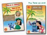 Lilo and Stitch Birthday Party Invitations Lilo and Stitch Invitationlilo and Stitch Birthday