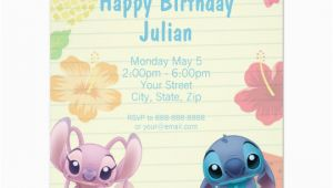 Lilo and Stitch Birthday Party Invitations Lilo Stitch Birthday Invitation Zazzle Com