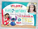 Lilo and Stitch Birthday Party Invitations Lilo Stitch Birthday Party Invitation Custom