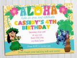 Lilo and Stitch Birthday Party Invitations Luau Invitation Lilo and Stitch Luau Invitation Lilo and