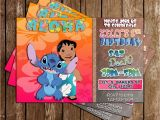 Lilo and Stitch Birthday Party Invitations Novel Concept Designs Lilo and Stitch Birthday Party