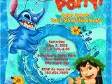 Lilo and Stitch Birthday Party Invitations Printable Lilo and Stitch Invitation Stitch Pool Party Lilo
