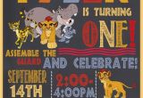 Lion Guard 1st Birthday Invitations Lion Guard Birthday Invitation Digital File