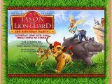 Lion Guard 1st Birthday Invitations Lion Guard Invitation Kion Lion Guard Birthday Invitation