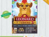 Lion Guard 1st Birthday Invitations Lion Guard Invitation Lion Guard Birthday Invitation Lion