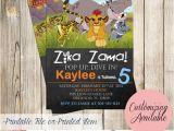 Lion Guard 1st Birthday Invitations Pink and Gold Princess Baby Shower Invitation Birthday